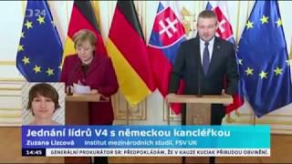 Jednání lídrů V4 s německou kancléřkou