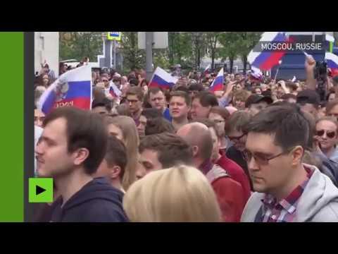 Arrestations lors d'une manifestation anti-corruption à Moscou, lors de la Journée de Russie