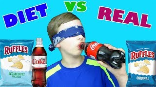 DIET FOOD VS. REGULAR REAL FOOD CHALLENGE BLIND TASTE TEST!!Subscribe to CollinTV: http://bit.ly/2cdp2ZtWatch More CollinTV: https://www.youtube.com/watch?v=e8mpQav-6vM&list=PLPEA1vJ8yc0WB1DCJfvvad6DszrJvd616 Subscribe to CollinTV Gaming: http://www.youtube.com/channel/UCqME2va67UmMuX3Ot2ourzg?sub_confirmation=1 Follow CollinTV:Facebook: https://facebook.com/CollinTv-691074701004211/Instagram: https://instagram.com/official_collintv/Twitter: https://twitter.com/collinstvshow Official Website: http://www.collintv.com/ Watch More CollinTV:Will it?: https://www.youtube.com/watch?v=7yta4TovaDo&list=PLPEA1vJ8yc0VBILl5QDfUIu7gUM6TwymRChallenges: https://www.youtube.com/watch?v=-s4cb6tfbT4&list=PLPEA1vJ8yc0UqhZEXKG-tHqlIRWMHE4HATaste Tests: https://www.youtube.com/watch?v=7j4kivH1WKQ&list=PLPEA1vJ8yc0Wd7nnLE8afE7bKPd7Bog89How To's & DIY's: https://www.youtube.com/watch?v=e8mpQav-6vM&list=PLPEA1vJ8yc0W0vXvjp2753zl28bWTC3Ip About CollinTV:CollinTV is a fun, family oriented Youtube channel. If you like videos on food challenges, taste tests , recipes, candy reviews,  cool toys, vlogs, and many other fun ideas....this is the perfect channel for you. Don't forget to subscribe! Thanks! Feel free to email CollinTV at: CollinsTVShow@gmail.com Send Fan Mail to:CollinTV4000 W 106th St #125-153Carmel, IN 46032 Music by Epidemic Sound