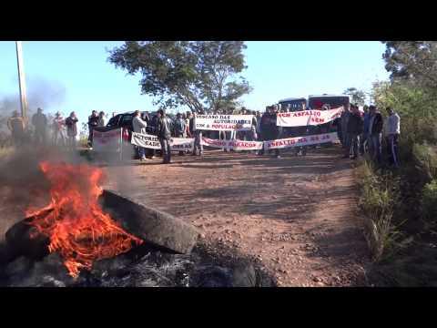 Protesto em rodovia que liga Palmitinho a Pinheirinho do Vale