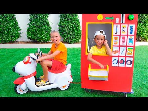 Vlad and Nikita vending machine kids toy story 2