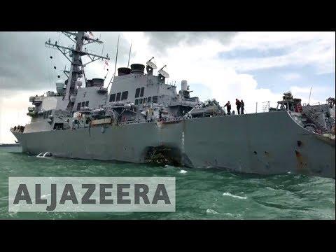 Video - Ελληνικών συμφερόντων το πλοίο που συγκρούστηκε με το αντιτορπιλικό του αμερικανικού ναυτικού