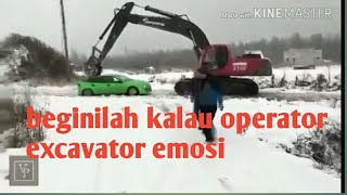 Video Tak tahan menahan emosi (kumpulan video operator excavator mengamuk) MP3, 3GP, MP4, WEBM, AVI, FLV Juni 2019