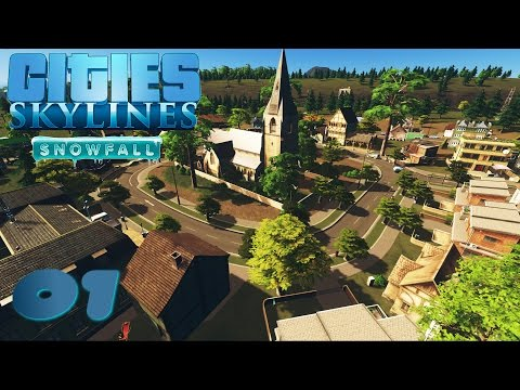 S02#001 - Mittelalter Dorfkern | Lets Play Cities Skylines Snowfall | [HD, German]