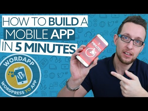Convert WordPress to a mobile app in 5 Minutes with WordApp (видео)