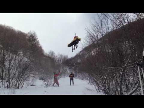 Gran Sasso, recuperato con elicottero scialpinista infortunato FOTO/VIDEO