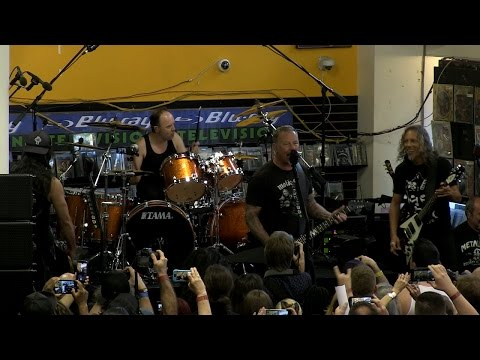 WATCH: Metallica Performs 'Helpless' at Record Store in Berkeley