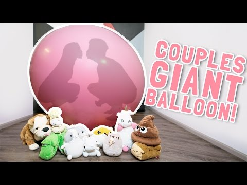 COUPLES KISS IN GIANT BALLOON!