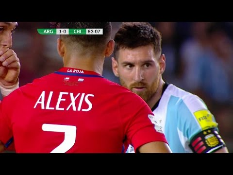 Alexis Sanchez vs Argentina (Away) 16-17 HD 720p (23/03/2017) - English Commentary