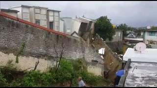 Colapsa pared del cementerio de la calle 30 de Marzo