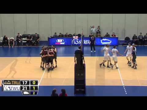 2015-02-13 TWU Men's Volleyball Highlights vs TRU