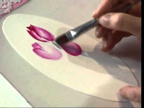 Tulips and Doilies using Watercolors by Susan Scheewe