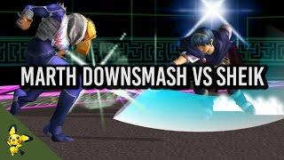 Small Marth trick against Sheik (x-post r/smashbros)