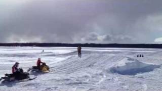 9. 10 year-old Peyton going for broke at SnoX race! (short version)
