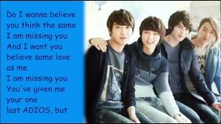 CNBLUE- Don't Say Goodbye (with lyrics on screen) + Ringtone