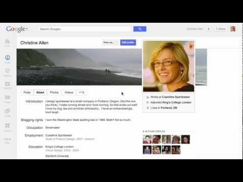 Image of Set Up Your Profile - New Google+ (G+) video demo and commercial