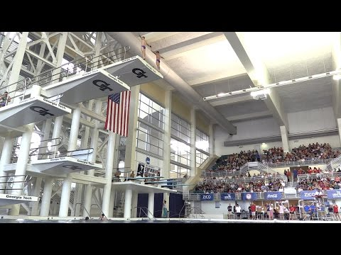 USA Olympic Diving Team Practices at Georgia Tech