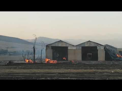 Video - Στάχτη εργοστάσιο στη Λάρισα - Εικόνες απόλυτης καταστροφής [video]