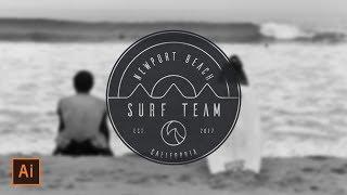 Illustrator Tutorial - Surf Badge Logo (Illustrator Badge Logo Tutorial) Thanks for watching! SUBSCRIBE for more design videos! In this Adobe Illustrator tut...