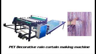 Metallic Tinsel Foil Fringe Curtain making machine youtube video