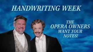 Handwriting Sweepstakes - 1/23/16 - 1/31/16We're celebrating National Handwriting Day by asking YOU to submit your notes to #PhantomOfTheOpera over the next week! Prizes include a signed set of prop notes from Phantom of the Opera on Broadway and two tickets to the show in New York City! Submit here: http://www.thephantomoftheopera.com/new-york/handwritingweekT&C: http://bit.ly/TCHandwriting