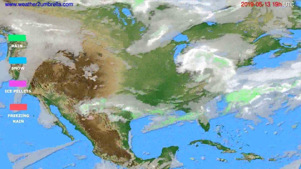 Precipitation forecast USA & Canada // modelrun: 12h UTC 2019-05-10