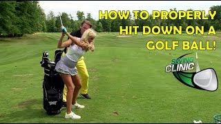 Video Swing Clinic:  Elise Lobb learns how to hit down on a golf ball MP3, 3GP, MP4, WEBM, AVI, FLV Juni 2018