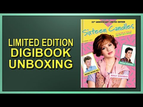 Sixteen Candles Limited Edition 35th Anniversary Blu-ray Digibook Unboxing