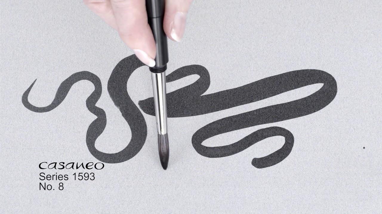 Кисть синтетика круглая Da Vinci 1593TP Casaneo короткая ручка, съемная видео
