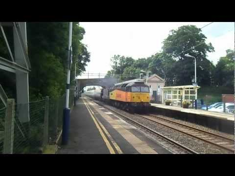 Colas Rail class 47 739 pulls NEW pendolino  coaches and comes back by itself at Goostrey 20/7/12