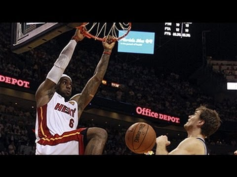 double - Check out the FULL highlights of LeBron James BIG triple-double in Game 6 of the NBA Finals as he helped the Heat lead the comeback & top the Spurs to force ...