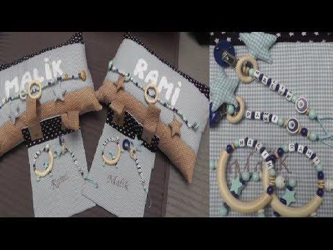 Individuelle Geschenk Idee Schnullerkette, Greifring, Kissen, Baby