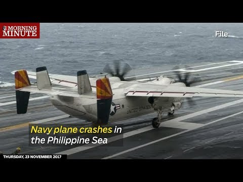 A US Navy transport plane carrying 11 people crashed in the Philippine Sea on Wednesday
