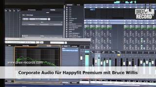 Corporate Audio mit Bruce Willis für Happyfit Premium