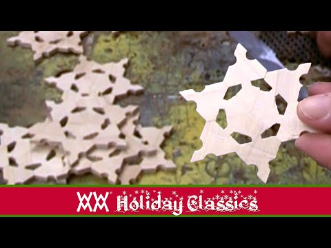 wooden - Here's a great method for making wood snowflakes on your tablesaw. Big thanks to Duane Kriebel at Spheramid Woodworks who makes and sells zillions of these. ...