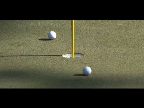Golfer Louis Oosthuizen get a hole in one after hitting his ball off another player's