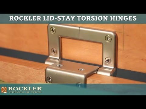 Rockler Lid-Stay Torsion Hinges