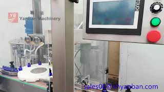YB-YX4 Automatic bottle filling machine for 10ml 15ml 30ml 60ml glass dropper bottle filling line youtube video