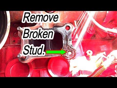 How To Remove Broken Exhaust Manifold Stud on Cummins Engine