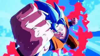 Super Saiyan Blue Goku & SSJ Blue Vegeta in Dragon Ball FighterZ Reveal Gameplay Trailer!