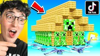 Testing VIRAL TikTok Minecraft Hacks That ACTUALLY WORK! (200IQ)