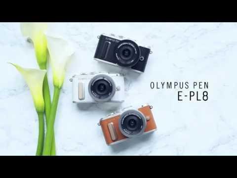 Olympus PEN E-PL8 fényképezőgép kit (14-42mm EZ objektívvel), barna