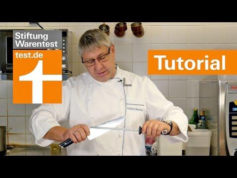 Tutorial: Kochmesser richtig schärfen mit Wetzstahl & Messerpflege