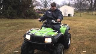 6. 2004 arctic cat 400 4x4 manual FIS followed me home on the back of my jeep wrangler