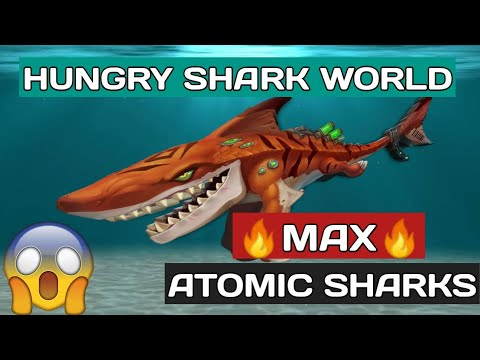 HUNGRY SHARKS WORLD-Featuring a max-level #AtomicShark🔥