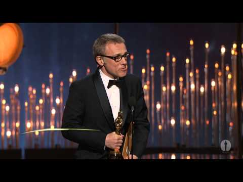 Supporting - Octavia Spencer presenting Christoph Waltz with the Oscar® for Best Supporting Actor for his performance in 