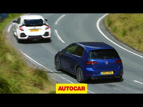 Honda Civic Type R meets VW Golf R | World's best hot hatchbacks reviewed and tested | Autocar