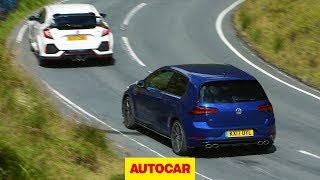Honda Civic Type R meets VW Golf R | World's best hot hatchbacks reviewed and tested | Autocar by Autocar