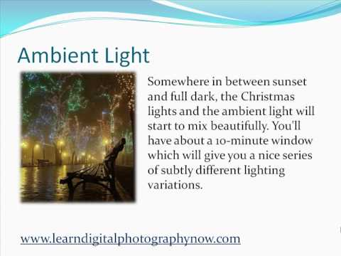 How To Photograph Outdoor Festival Christmas Lights