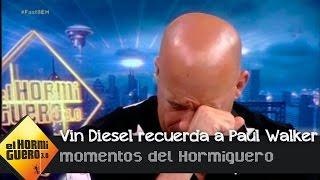 Nonton Vin Diesel se emociona al recordar a su compañero fallecido, Paul Walker - El Hormiguero 3.0 Film Subtitle Indonesia Streaming Movie Download